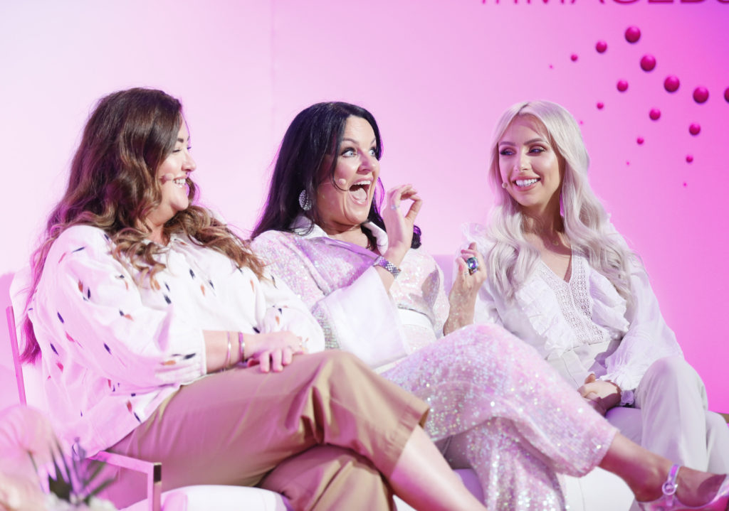 Rosie Connolly, Triona McCarthy and Jules Fallon at the Image Beauty Festival 2019