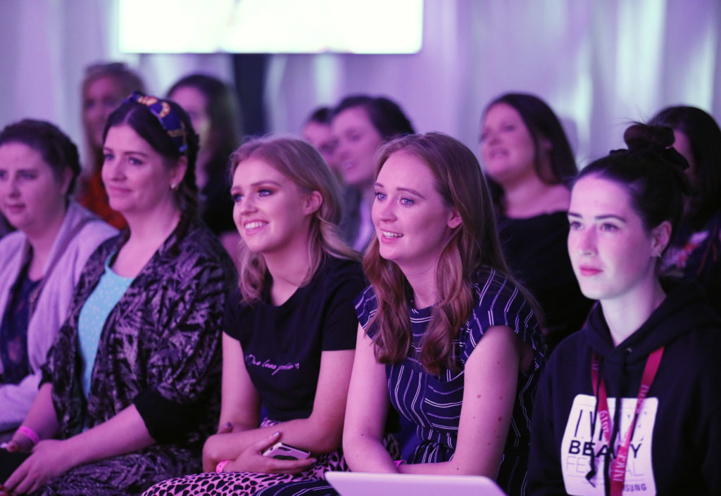 A jam-packed Samsung Beauty Stage at the Image Beauty Festival, May 25.