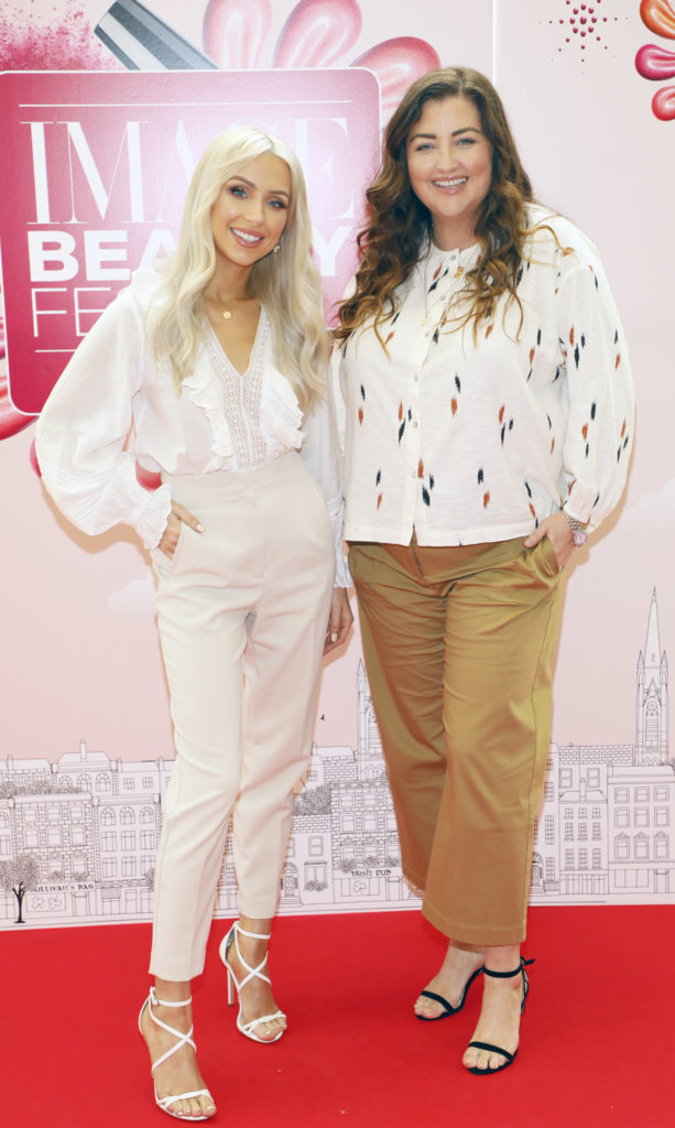Rosie Connolly and Jules Fallon at the Image Beauty Festival 2019
