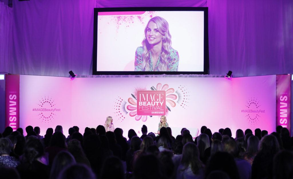 Vogue Williams at Image Beauty Festival 2019.