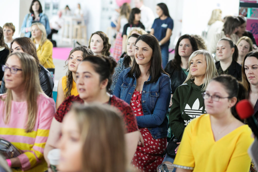 Audience members enjoying a session at the Boots Beauty Stage at IMAGE Beauty Festival 2019.