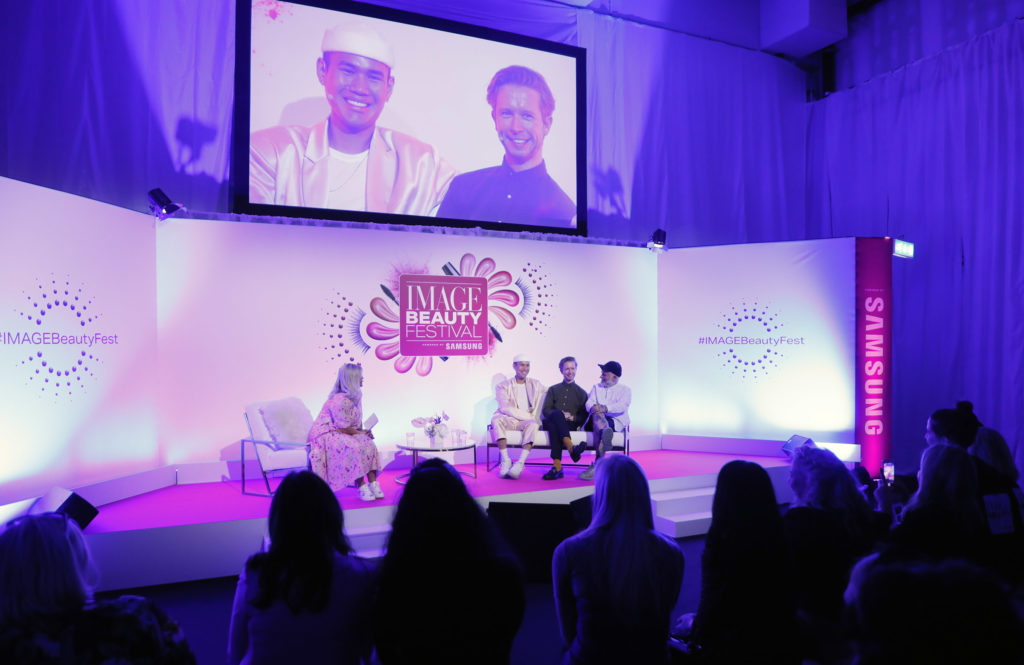 Adam Reed and Patrick Ta at the Image Beauty Festival 2019
