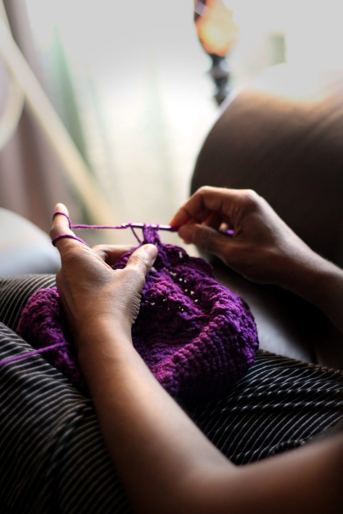 knitting to relax