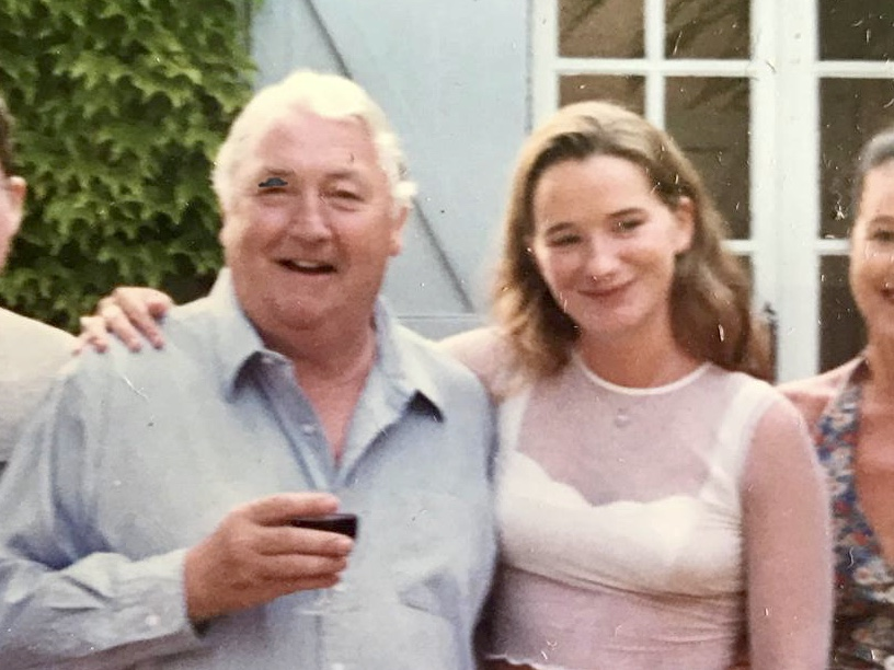Lizzie Gore-Grimes and her dad