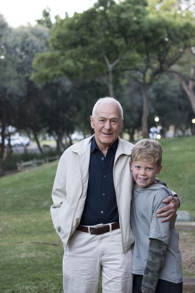 A very proud Joe (Marlene Wessels' son) with his'Oupa' (Marlene's dad) who just completed a 70K cycling race.