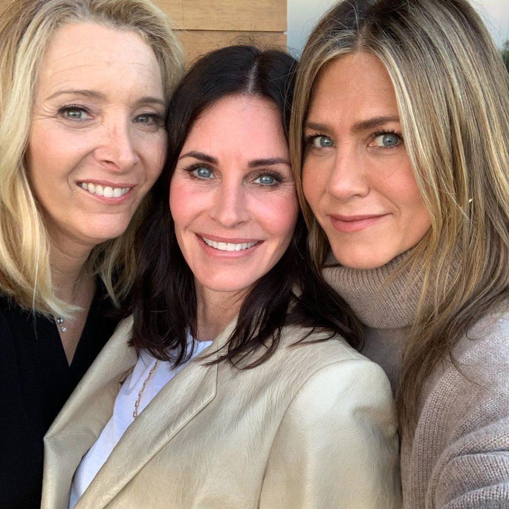 Courtney Cox, Jennifer Aniston and Lisa Kudrow