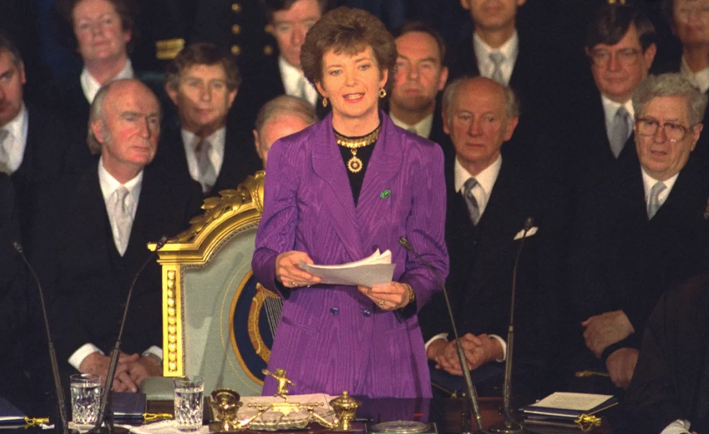 Mary Robinson, photo from RTÉ Archives