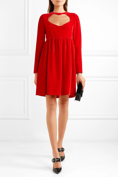 Chloé cutout velvet mini dress outnet