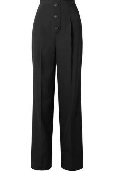 GIVENCHY Grain de poudre wool wide-leg pants outnet