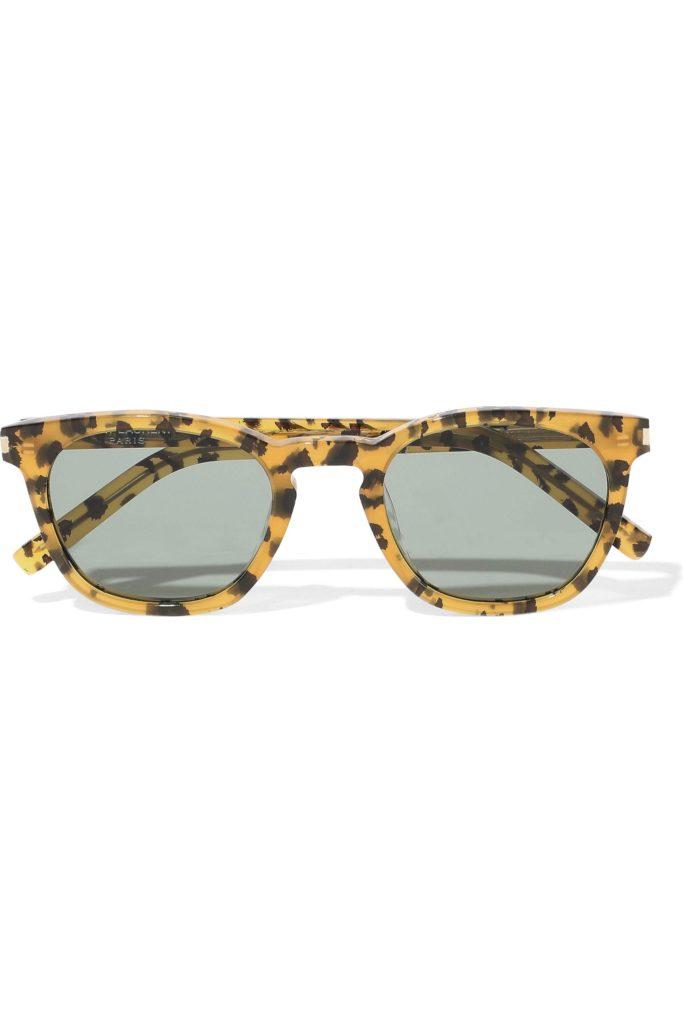 SAINT LAURENT D-frame leopard-print acetate sunglasses outnet