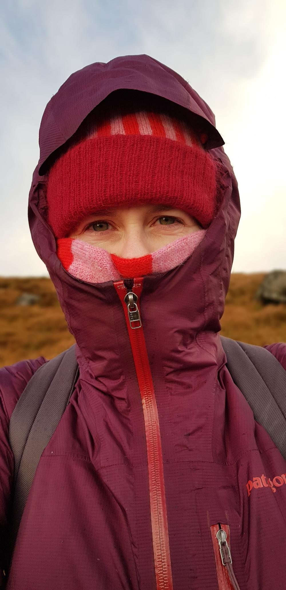 Liadain Aiken all wrapped up on a winter walk
