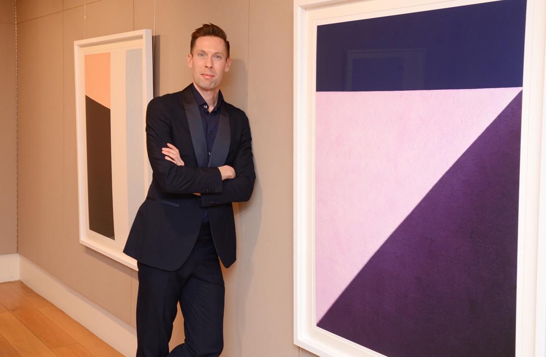 Daniel Holfeld at his RIAI exhibition