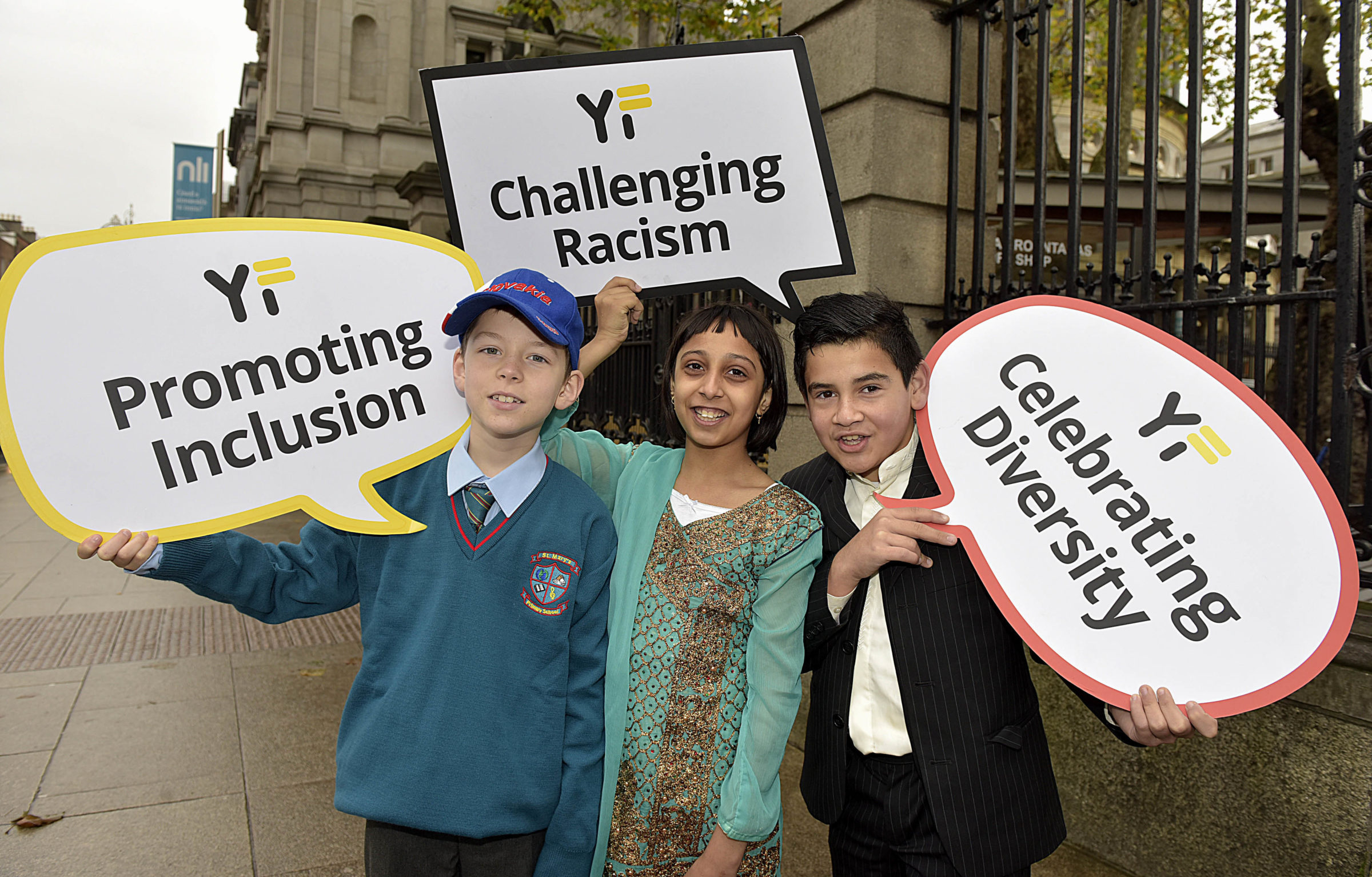 Students attending the 2019 Yellow Flag Awards Ceremony at Leinster House