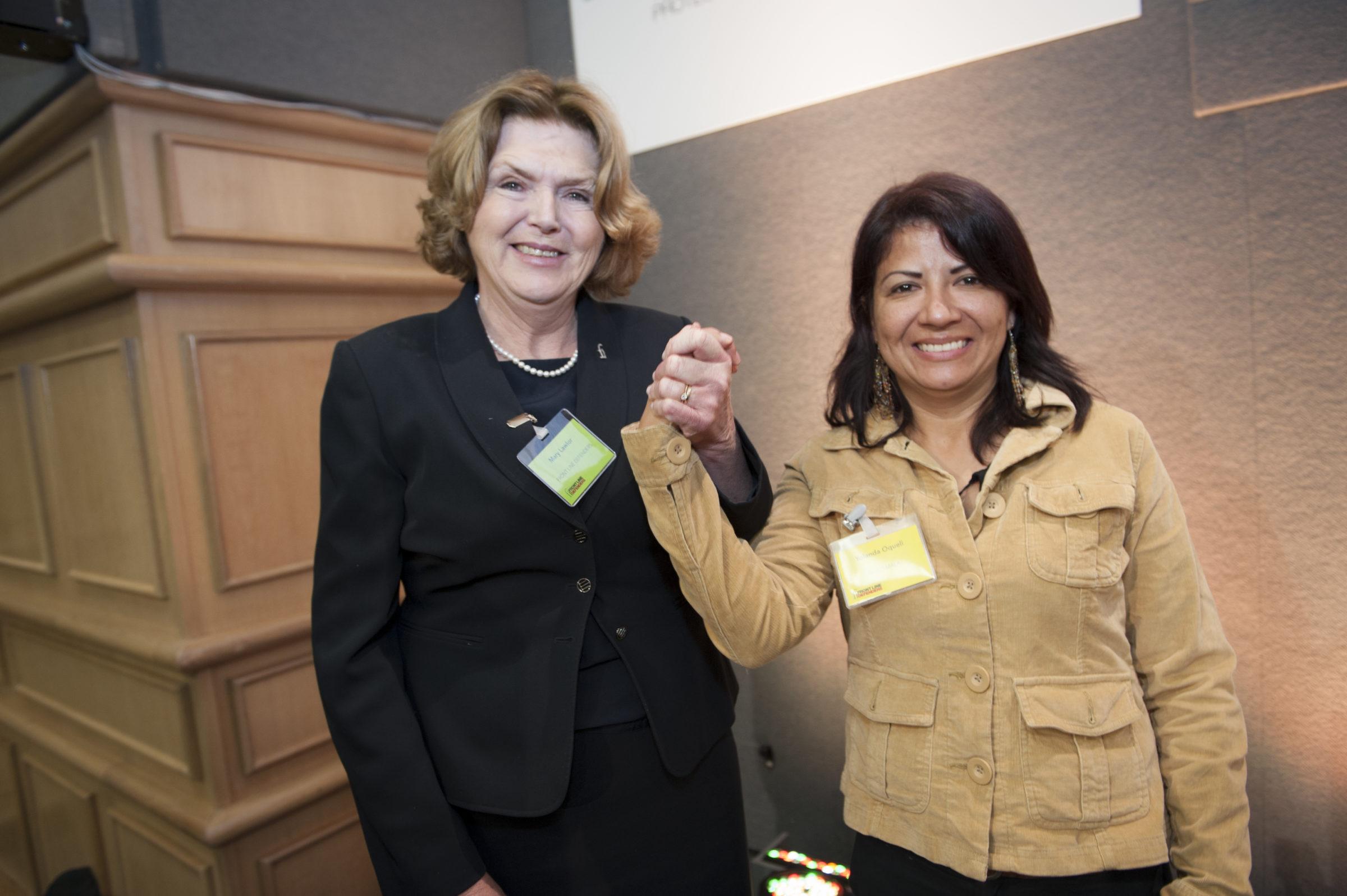 Mary and Guatemalan woman human rights defender Yolanda Oquelí