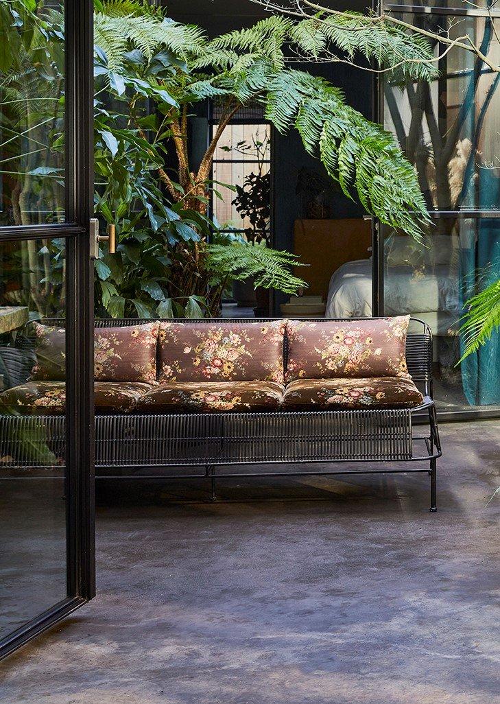 Black Woven Outdoor Sofa