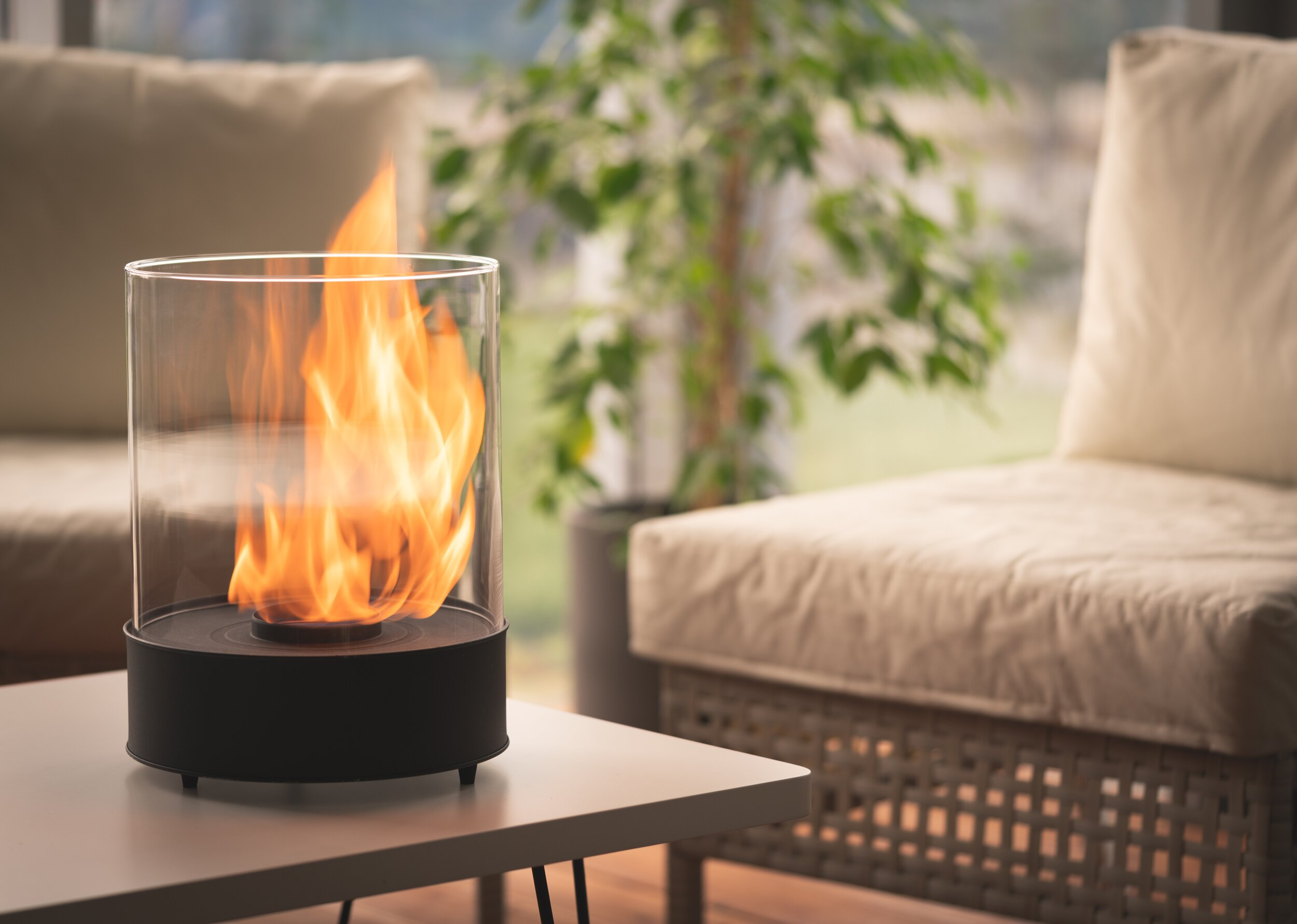 Chantico Glassfire Bio-Ethanol Tabletop Fireplace
